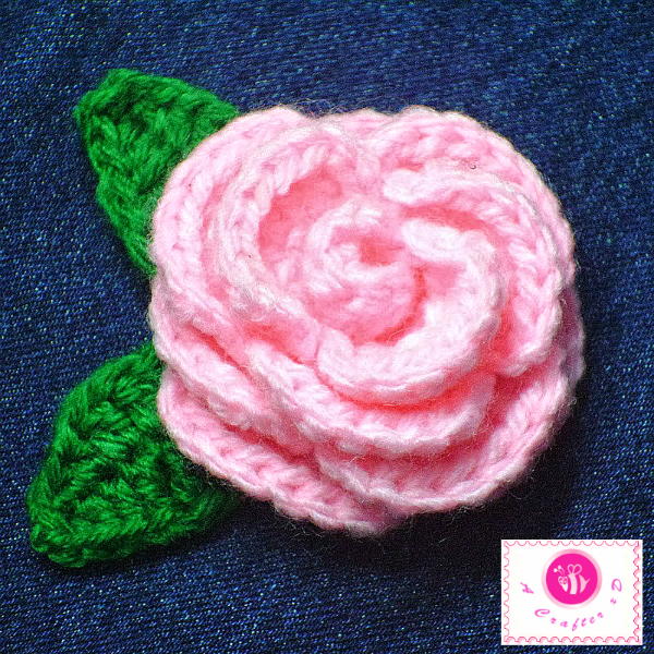 Crochet Thread Rose Pattern Free : crochet blooming rose