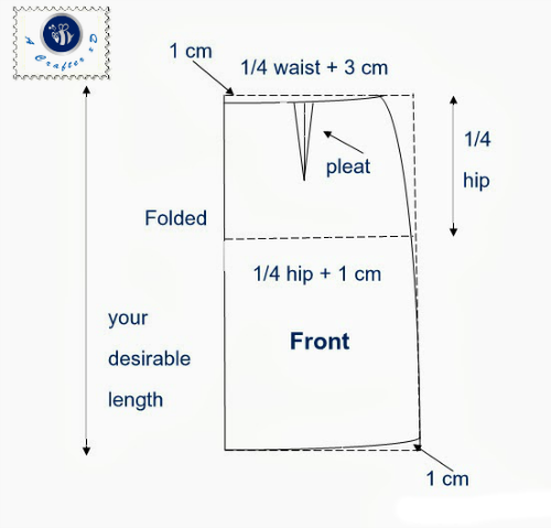 front pattern for straight skirt