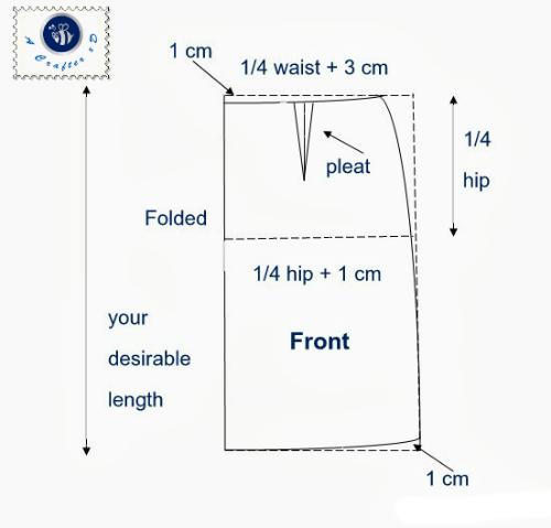 front pattern for straight skirt