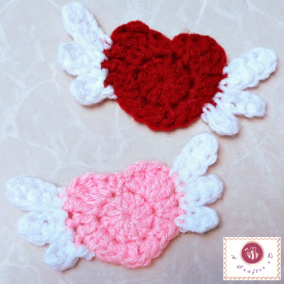 how to crochet winged heart