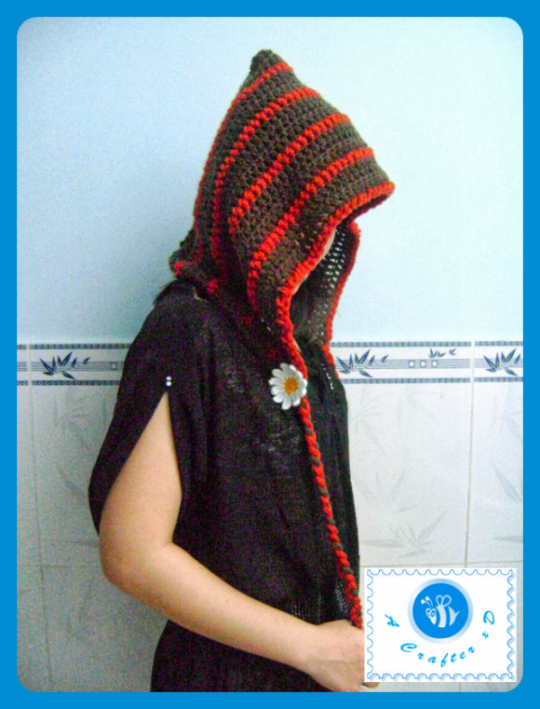 crochet woman hood free pattern