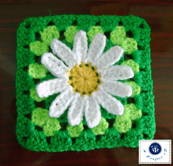 Crochet Sunflower Granny Square Crochet Flower Squarecrochet Sunflower
