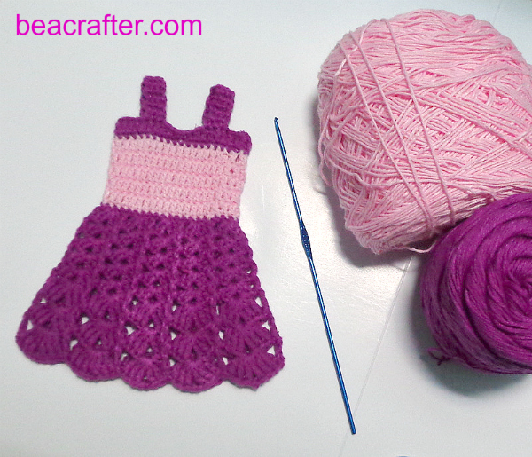 Crochet Fashion Doll Tank Dress Maz Kwoks Designs