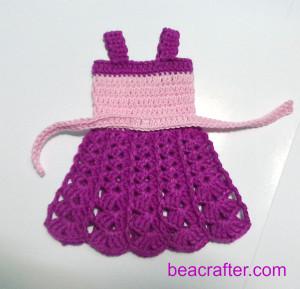 how to crochet Barbie tank dress