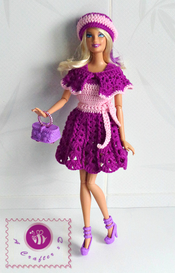 can get the patterns of this Pink and Purple glam set in this ad-free ...
