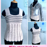 Crochet wide strap tank top