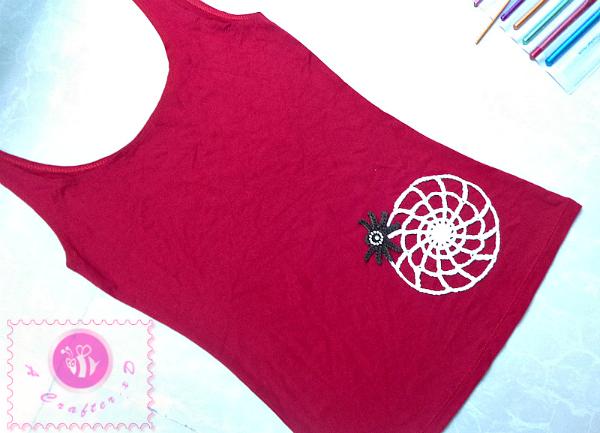 crochet spider web free pattern