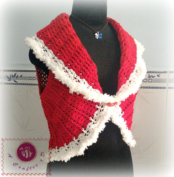 Crochet Shawl Cir Collar Vest Crochet Circular Vest Crochet Short Vest