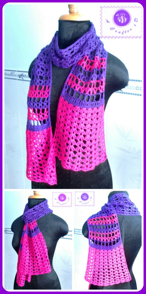 Crochet culotte scarf - Maz Kwoks Designs