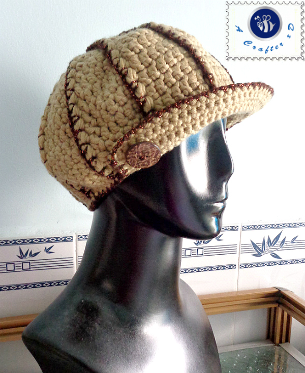 crochet newsboy hat free pattern