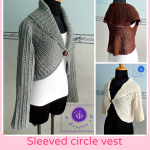 Crochet sleeved circle vest