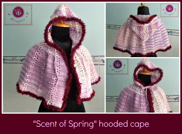 Crochet Scent Of Spring Hooded Cape Be A Crafter