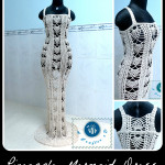 Crochet Pineapple Mermaid Dress