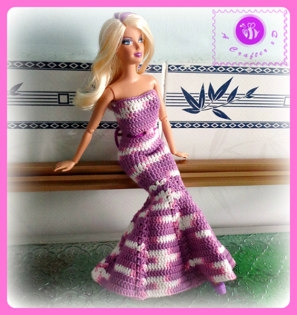 crochet barbie doll dress