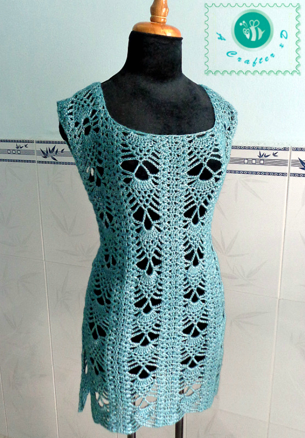Free Crochet Tunic Pattern For Beginners : crochet pineapple tunic, crochet tunic, crochet tunic free ...