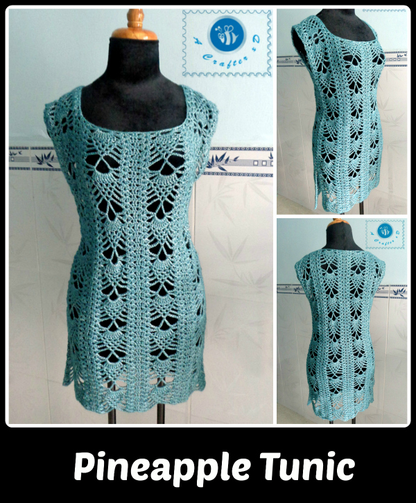 crochet tunic, crochet cover top
