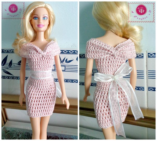 Free Crochet Pattern Barbie Dress Traitoro For