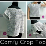 Crochet comfy crop top