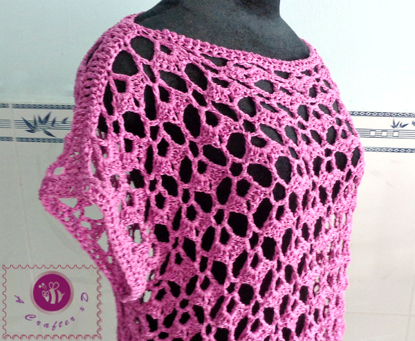 Free Crochet Patterns Tops : crochet lacy oversized top, crochet oversized top, crochet ...