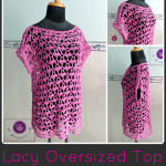 Crochet lacy oversized top