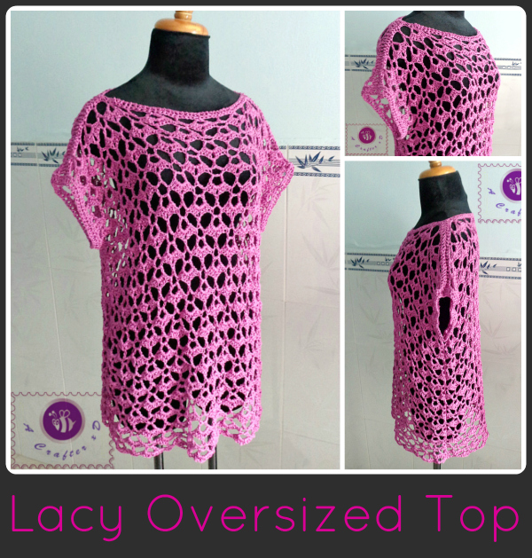 Free Patterns Crochet Tops : crochet lacy oversized top, crochet oversized top, crochet ...
