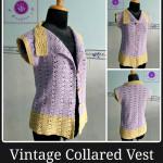 Crochet vintage collared vest