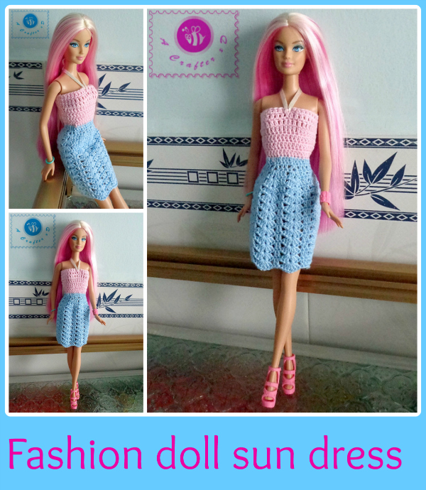 crochet barbie sun dress