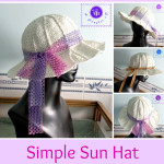 Crochet simple sun hat