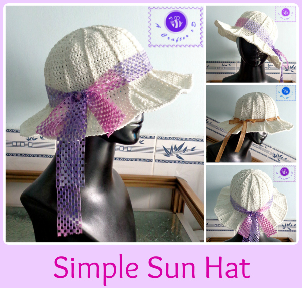 Crochet simple sun hat - Maz Kwok's Designs