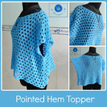 Crochet pointed hem topper