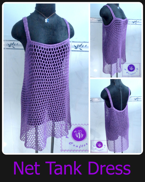 Perfect crochet net tank dress, crochet mesh tank dress, crochet beach  XN34