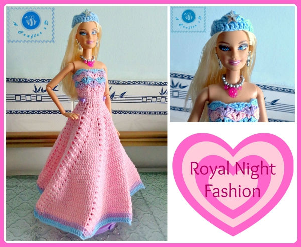 crochet fashion doll dress