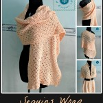 Crochet sequins wrap