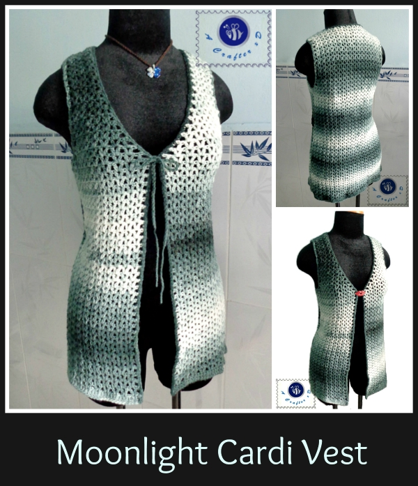 crochet sleeveless cardigan