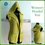 Crochet hooded vest