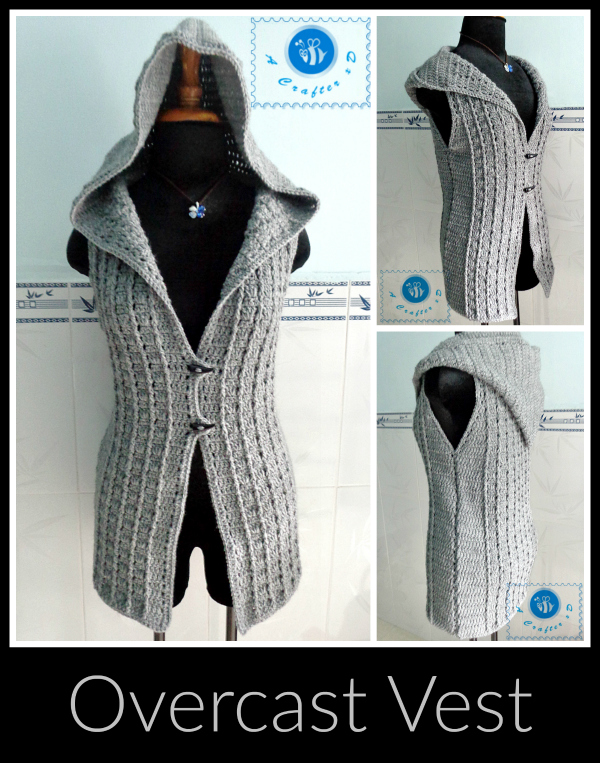 crochet hooded vest free pattern