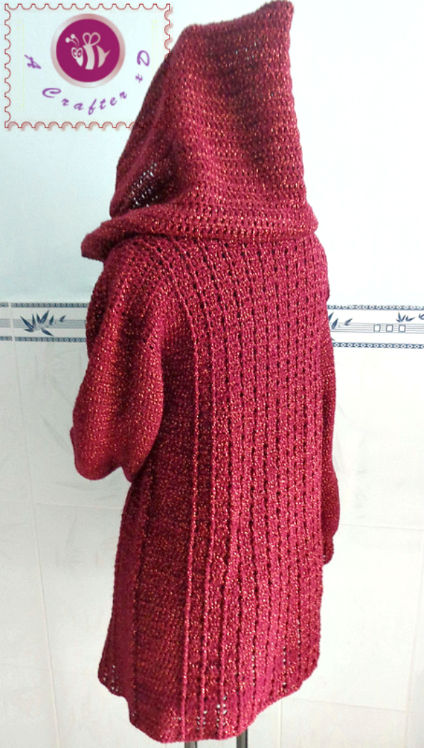 crochet overcast sweater, crochet hooded sweater, crochet ...