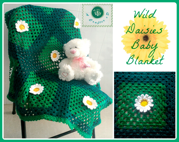 crochet daisy blanket