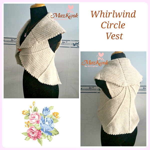 crochet whirlwind circle vest