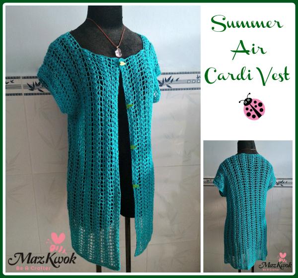 air cardi vest pdf crochet pattern 2 99 crochet summer air cardi vest ...