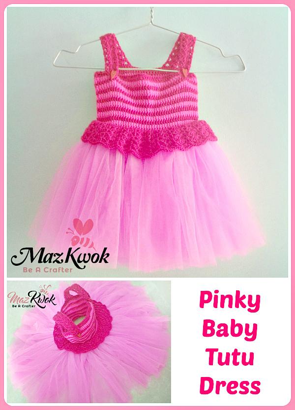 Free Crochet Tulle Dress Pattern : crochet pinky baby tutu dress, crochet baby tutu dress ...