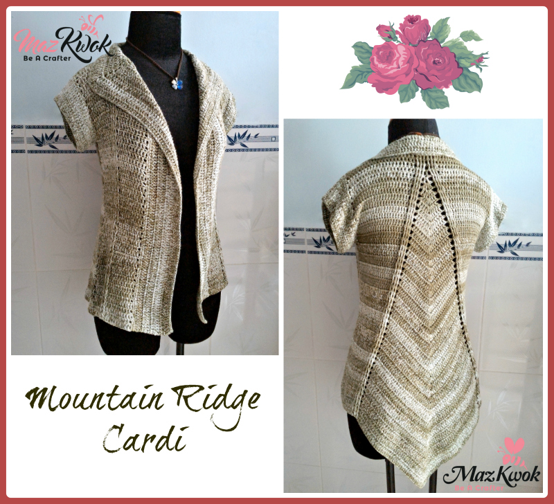 Crochet Mountain Ridge Cardi Crochet Short Sleeved Cardigan