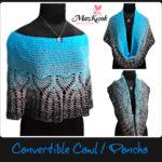 Crochet convertible cowl / poncho