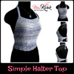 Crochet Simple halter top