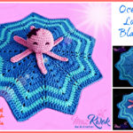Crochet Oceanic lovey blanket