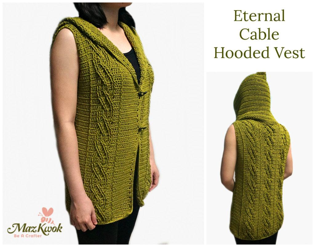 Crochet Cable Hooded Vest Crochet Hooded Vest Free Pattern