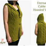 Crochet Eternal cable hooded vest