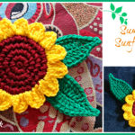 Crochet Summer sunflower