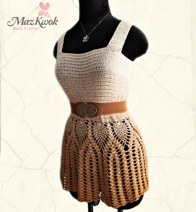 crochet pineapple peplum tank top