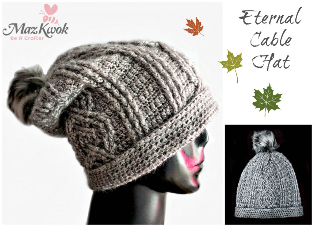 Crochet Eternal cable hat
